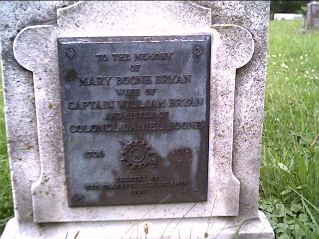 Mary Boone Bryan's Grave