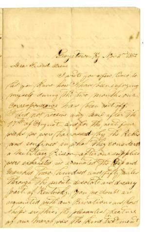 Leech Letter, Kentucky Historical Society