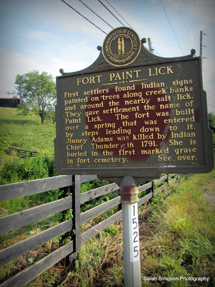 Fort Paint Lick Historical Marker