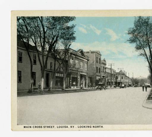 Main Street in Louisa, Lawrence County, Kentucky, c. 1920.