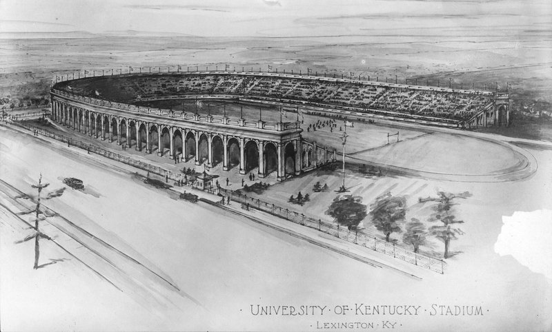 Drawing of Stoll Field and McLean Stadium