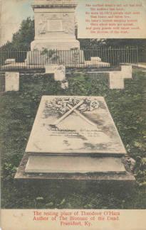 Postcard of Theodore O'Hara Monument