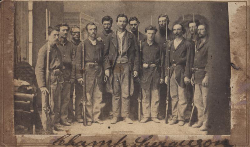 Champ Ferguson and his prison guards