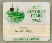 Kentucky Derby Press Badge