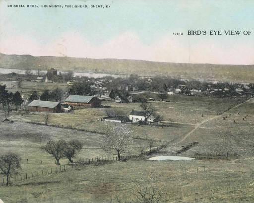 Bird's Eye View of Ghent, Kentucky, c. 1908