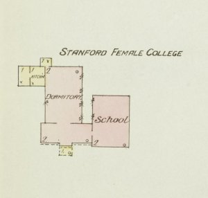 Map of the Stanford Female College