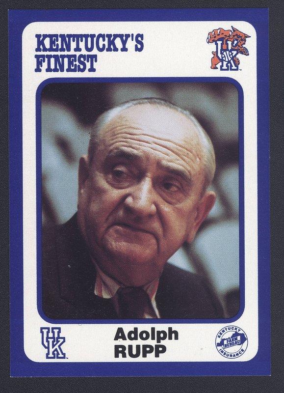 Adolph Rupp card