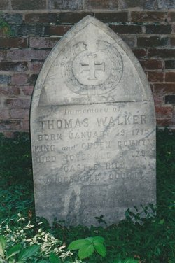 Thomas Walker's Headstone