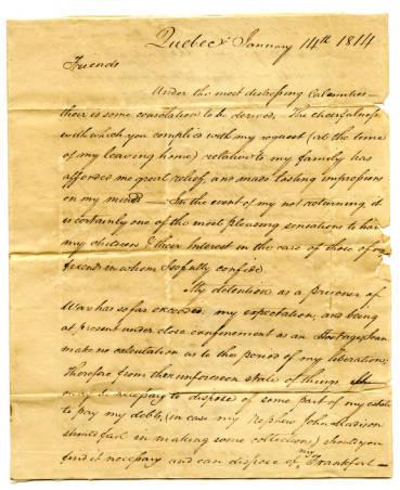 George Madison letter