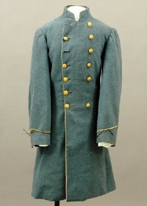 Confederate Captain Charlton Morgan's frock coat