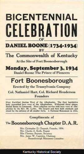 Bicentennial Celebration Handbill