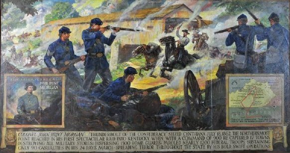 Painting, the 1862 Battle of Cynthiana