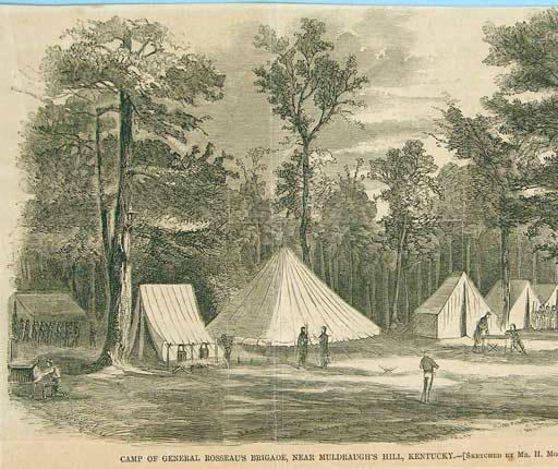 Rousseau's Brigade near Muldraugh's Hill