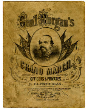 "Sheet Music, ""Morgan's Grand March."""