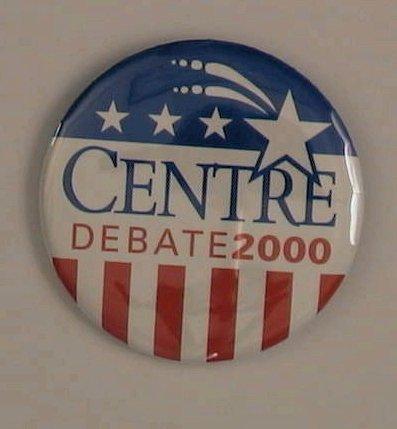 Centre College 2000 Vice Presidential Debate Button