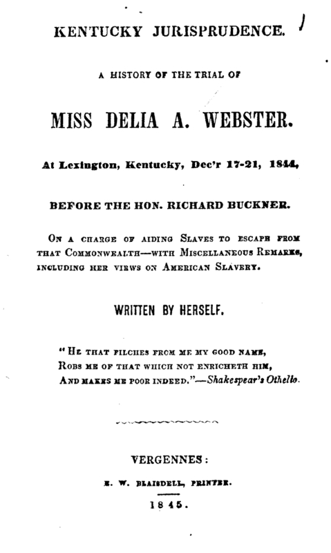 Webster's 1844 Account