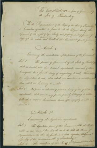 1799 Kentucky Constitution