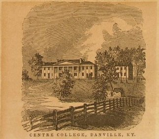Engraving of Centre College, 1847