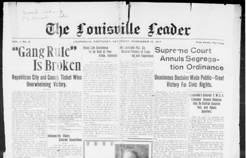 The Louisville Leader Newspaper