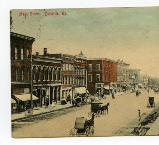 Danville Main Street, 1909