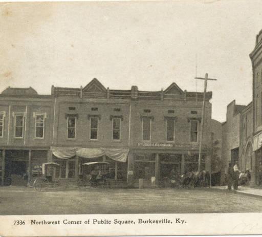Public Square. Burkesville, KY.