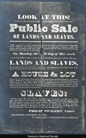 Slave Sale Broadside