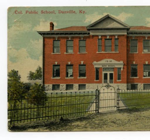 African American School, Danville, 1913