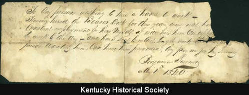 Written Advertisement