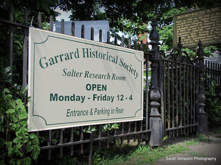 Garrard County Historical Society Sign