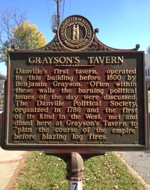 Grayson's Tavern Historical Marker