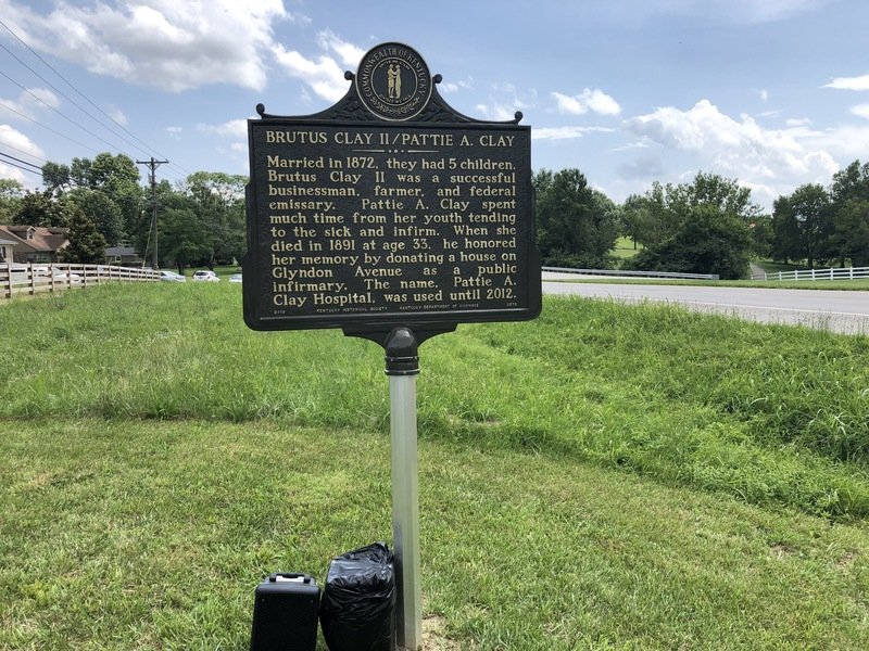 Lynwood Marker Second Side, Brutus Clay II/Pattie A. Clay, June 16, 2019