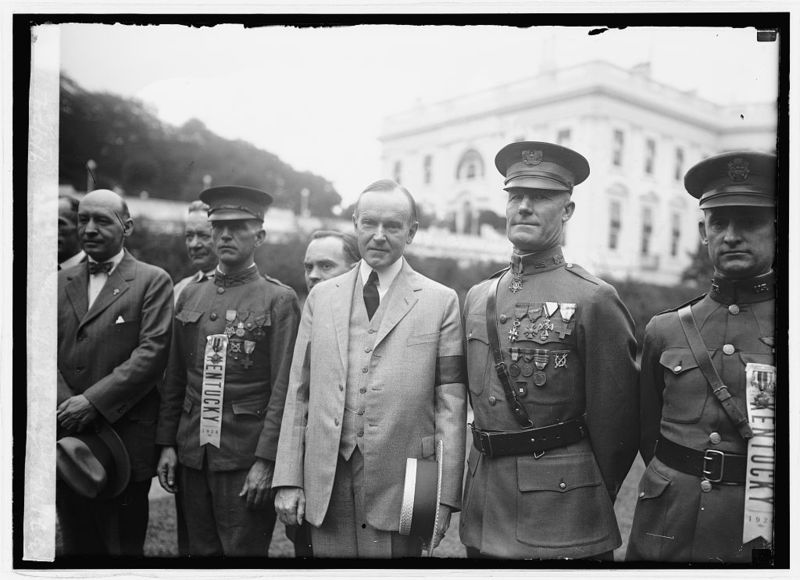 Woodfill with President Coolidge