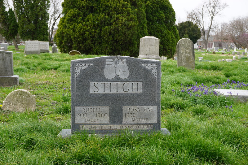Gravestone of Rudell Stitch in Eastern Cemetery.JPG
