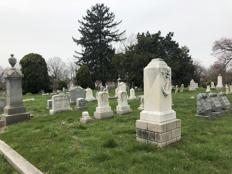 Example of the restoration work done by the Friends of Eastern Cemetery.JPG