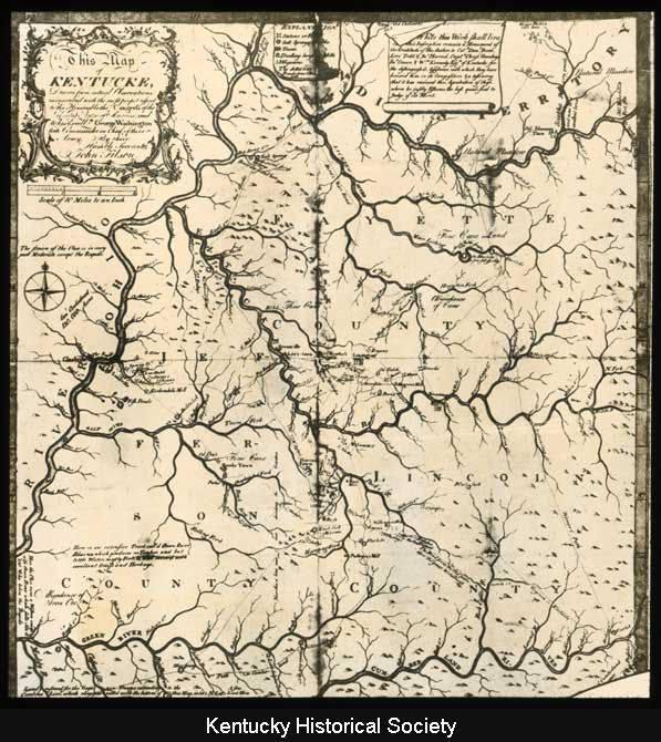 John Filson's 1784 Map
