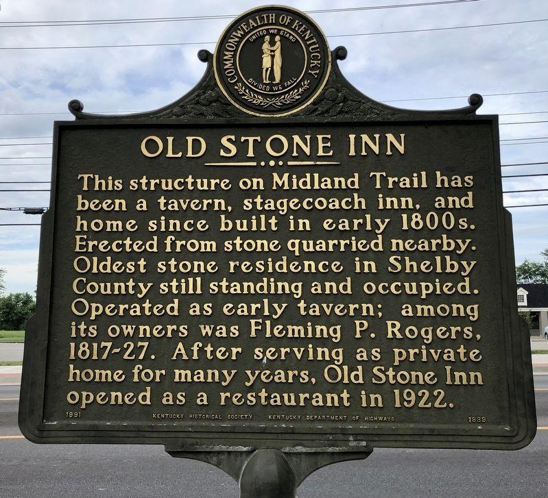 Old Stone Inn KHS Historical Marker