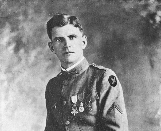 Sgt. Sandlin, image from Above and Beyond the Call of Duty, Register, 1920.PNG