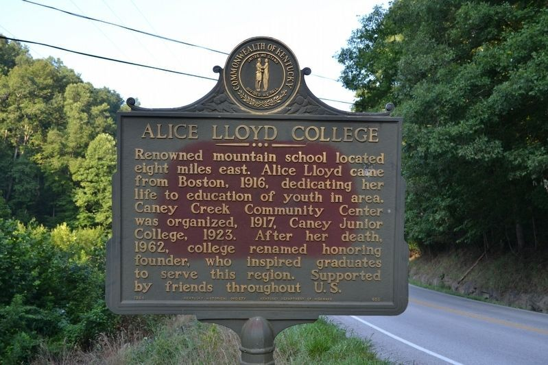 Alice Lloyd College KHS Historical Marker