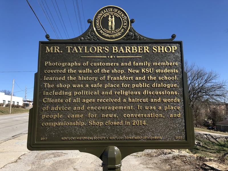 Mr. Taylor's Barber Shop marker - side 2