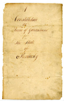 1792 Kentucky Constitution