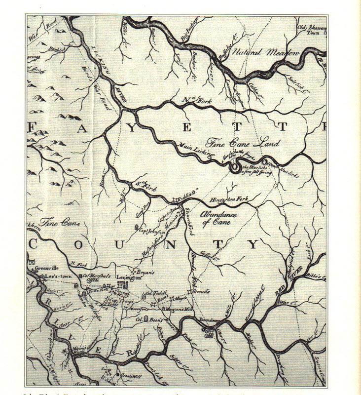 John Filson's Map of Kentucky