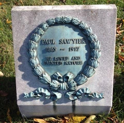 Grave of Kentucky artist Paul Sawyier