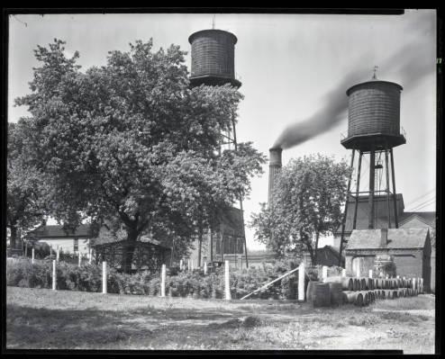 Smokestacks at the O.F.C. Distillery