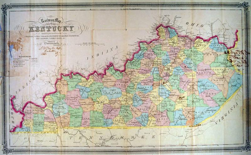 1859 Railway Map