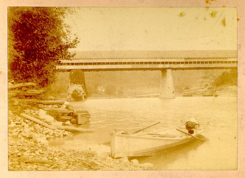 Covered Bridge and Boat